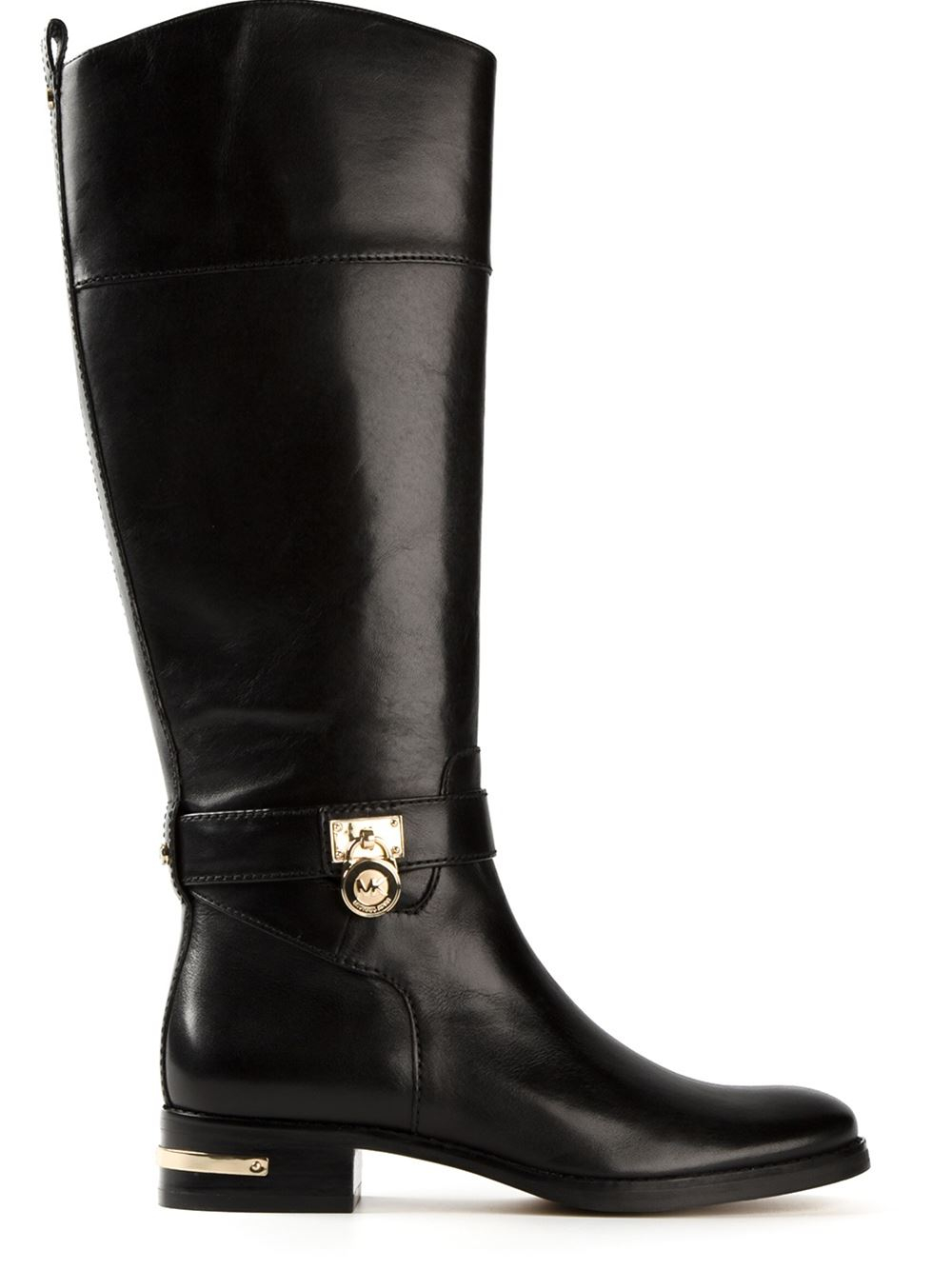 michael michael kors 39 aileen 39 riding boots in black lyst. Black Bedroom Furniture Sets. Home Design Ideas