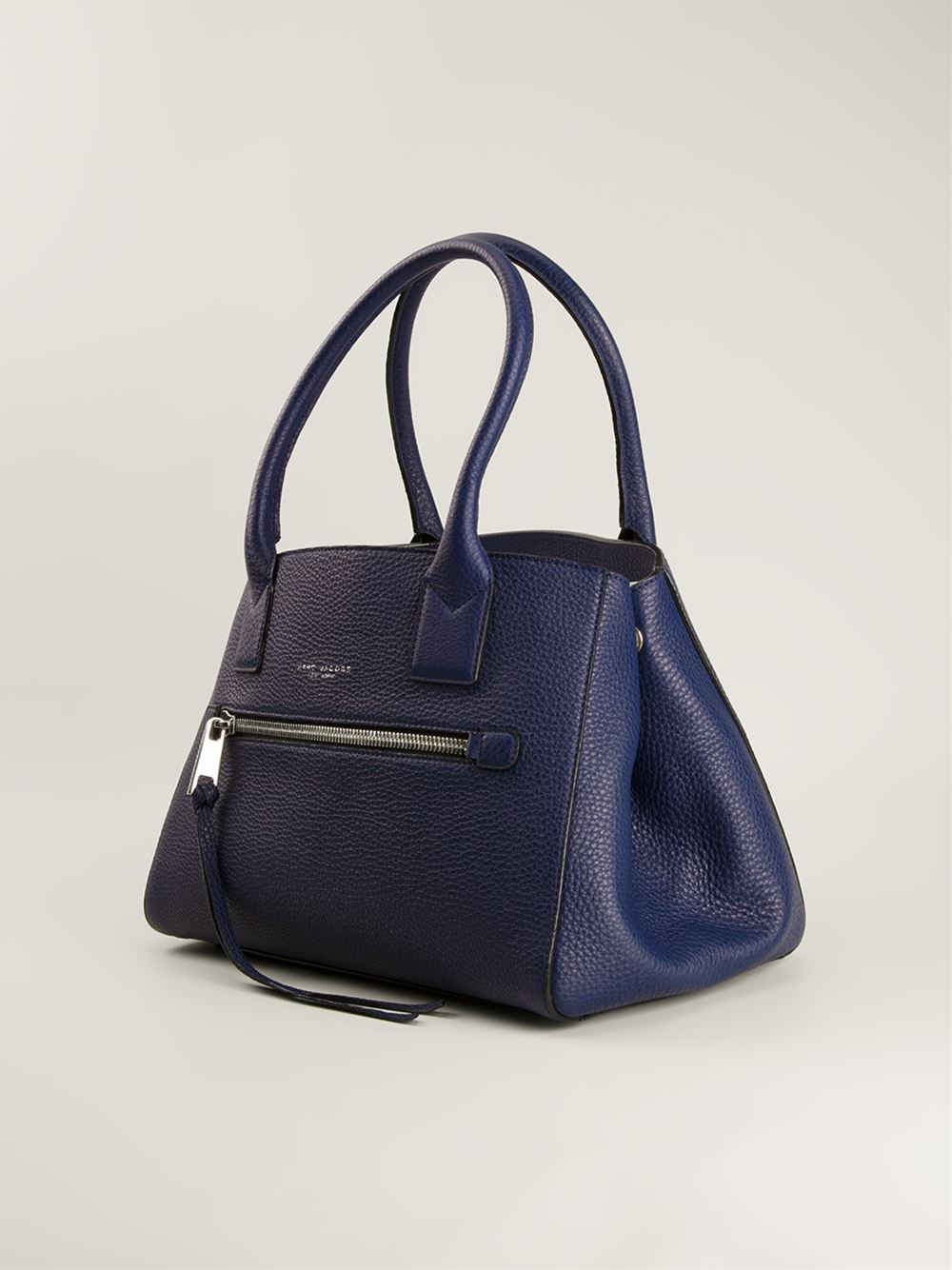 6481b1091df0 Marc Jacobs The Not So Big Apple Leather Tote in Blue - Lyst