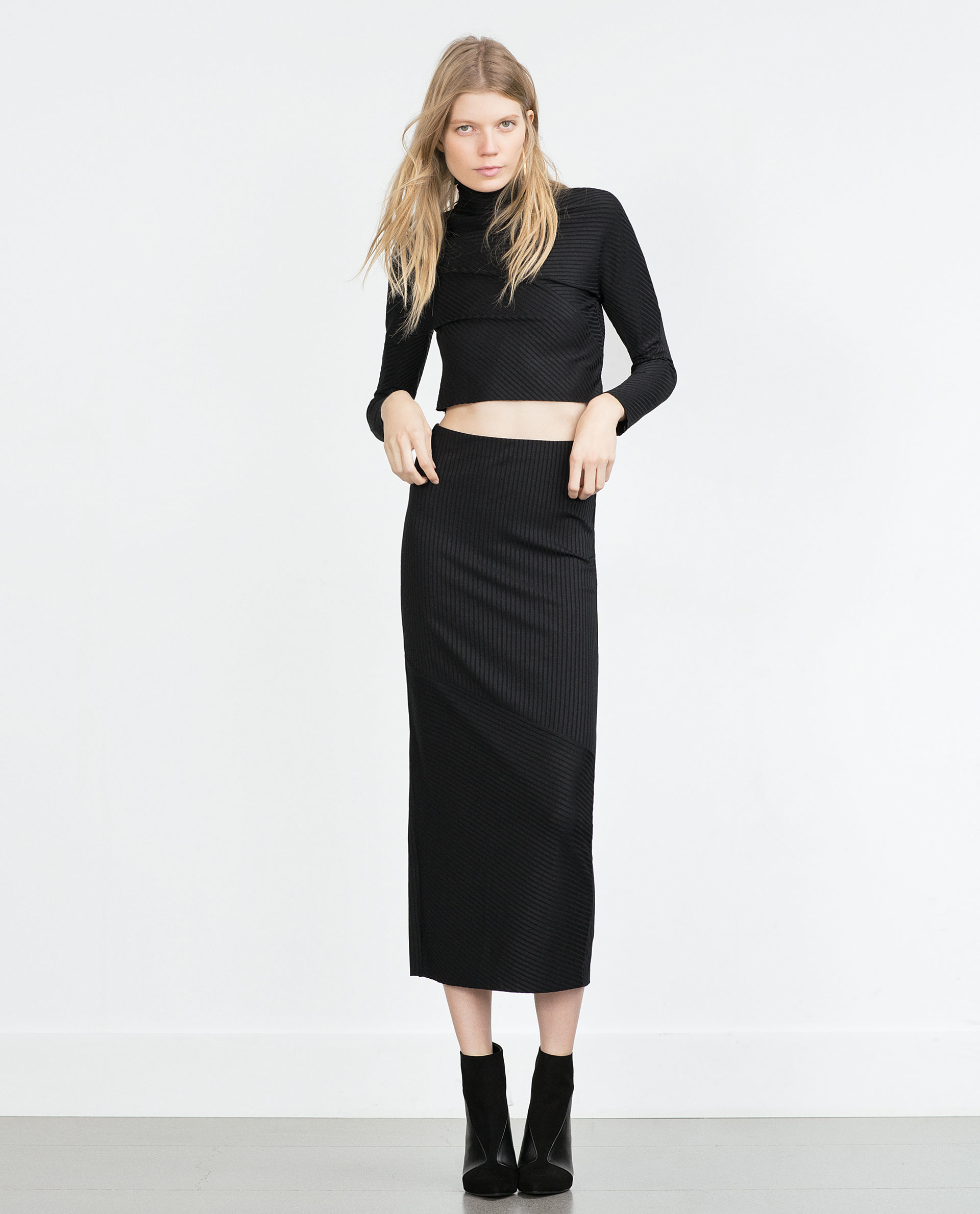 Straight long skirts black – Modern skirts blog for you