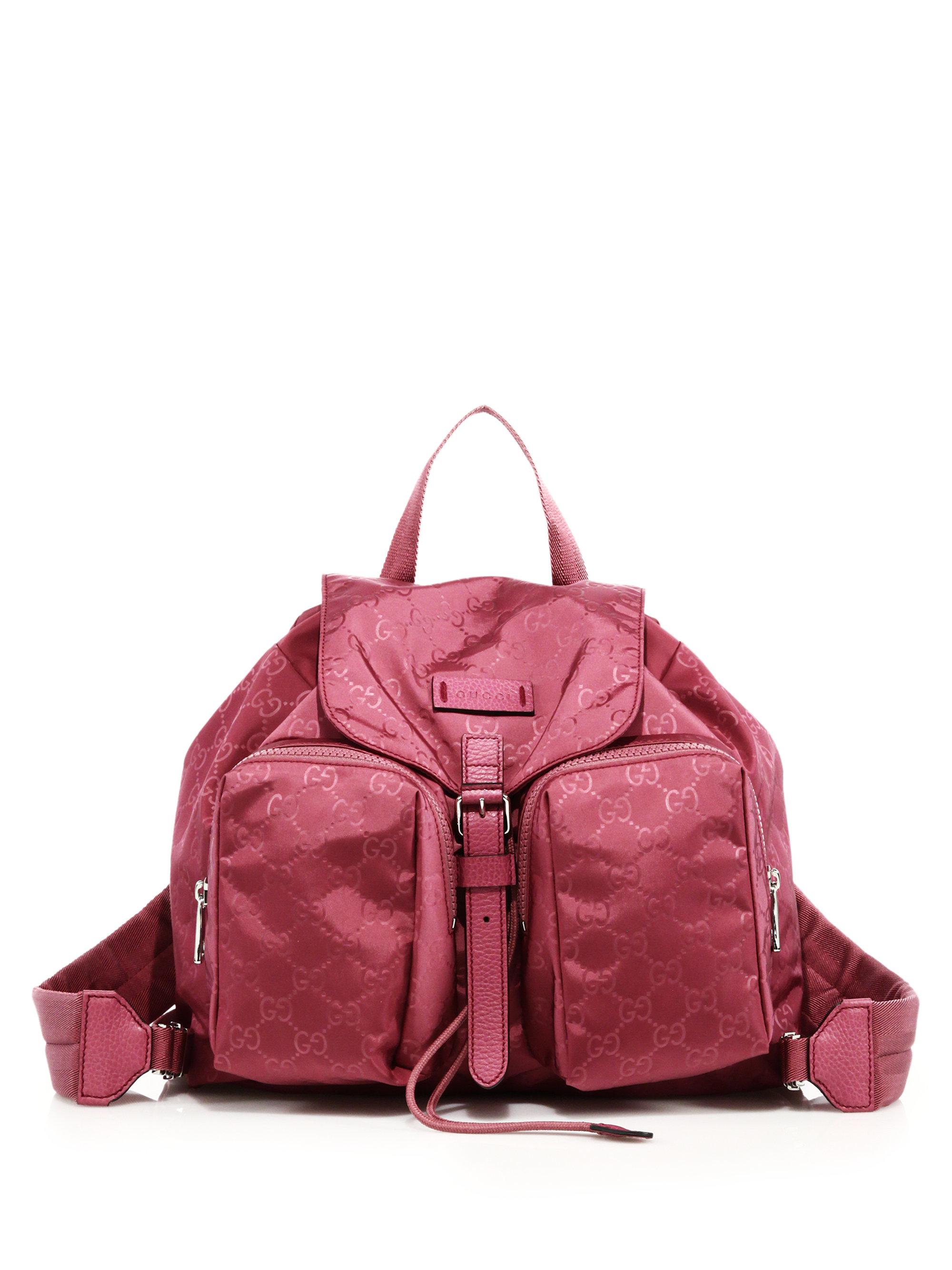 efec1e8f6b9 Lyst - Gucci Nylon Ssima Light Backpack in Pink