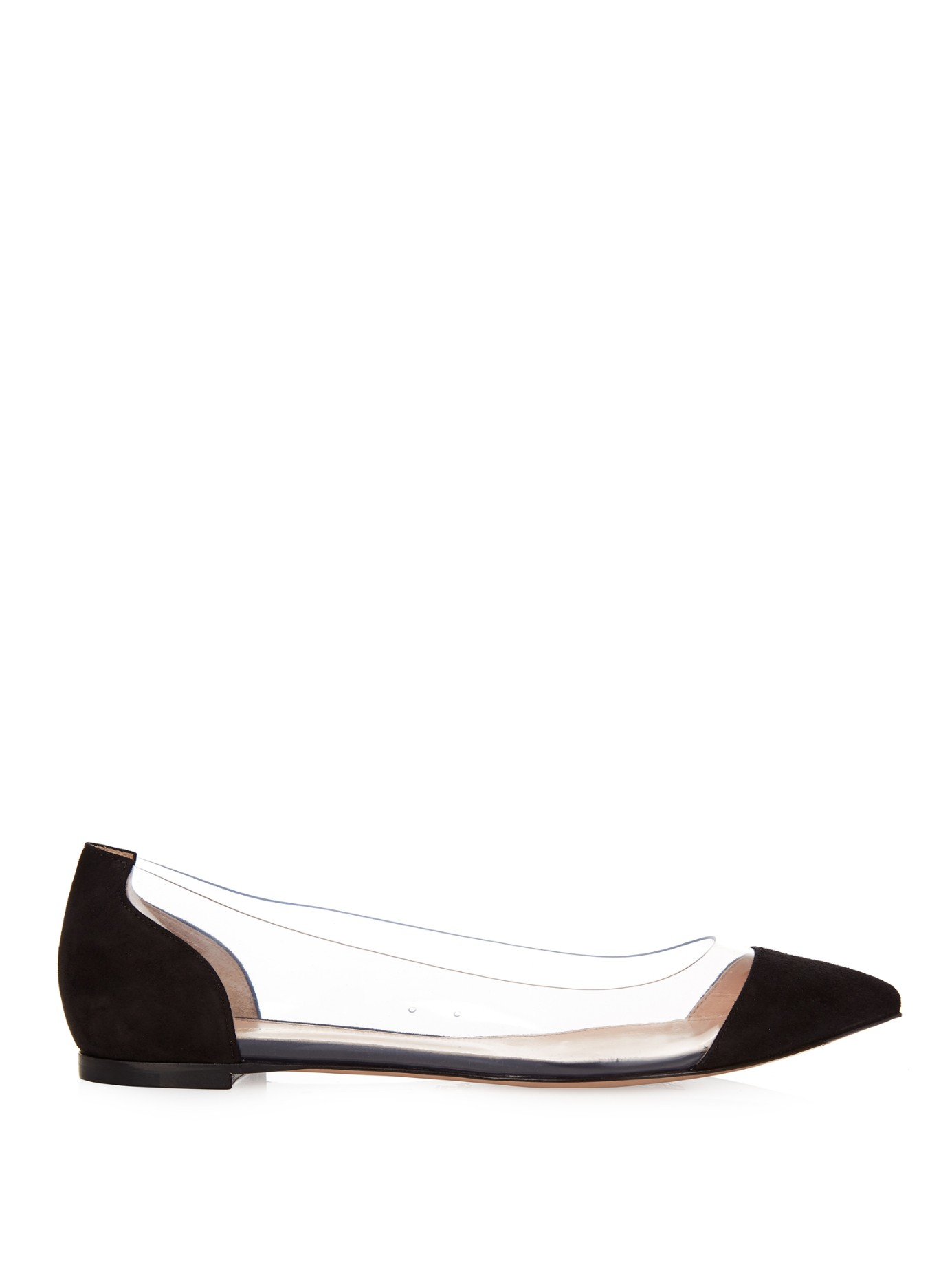 Gianvito Rossi Plexi Flat leather ballerinas bP3e9