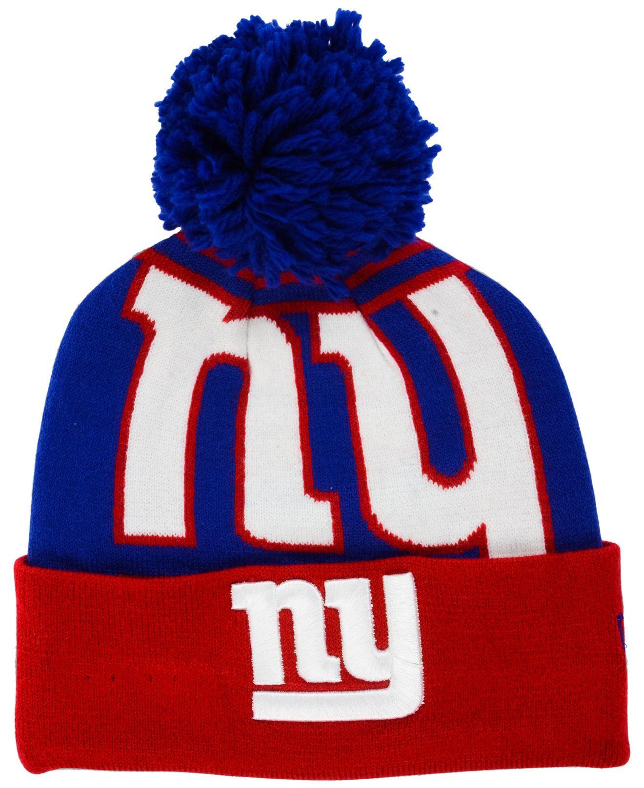 a4eb78d044b ... france lyst ktz new york giants whiz pom knit hat in blue for men 96065  336e2