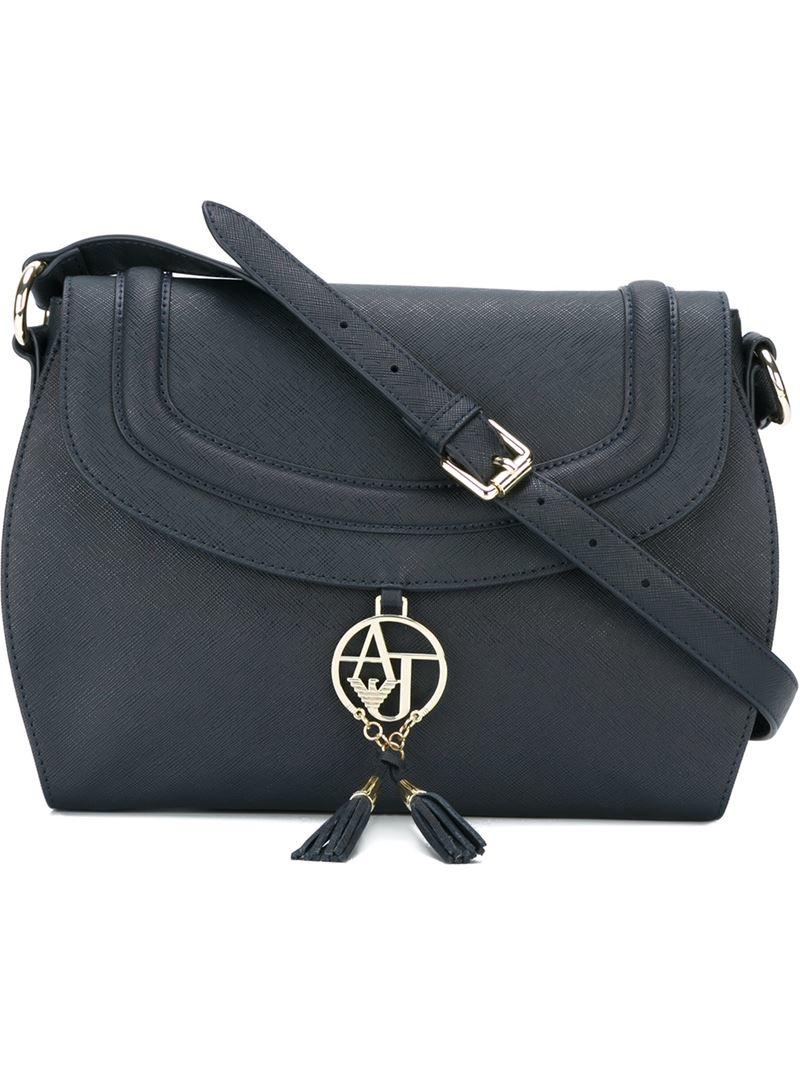 Lyst - Armani Jeans Tassel-Detail Cross-Body Bag in Blue e2a2d48b385