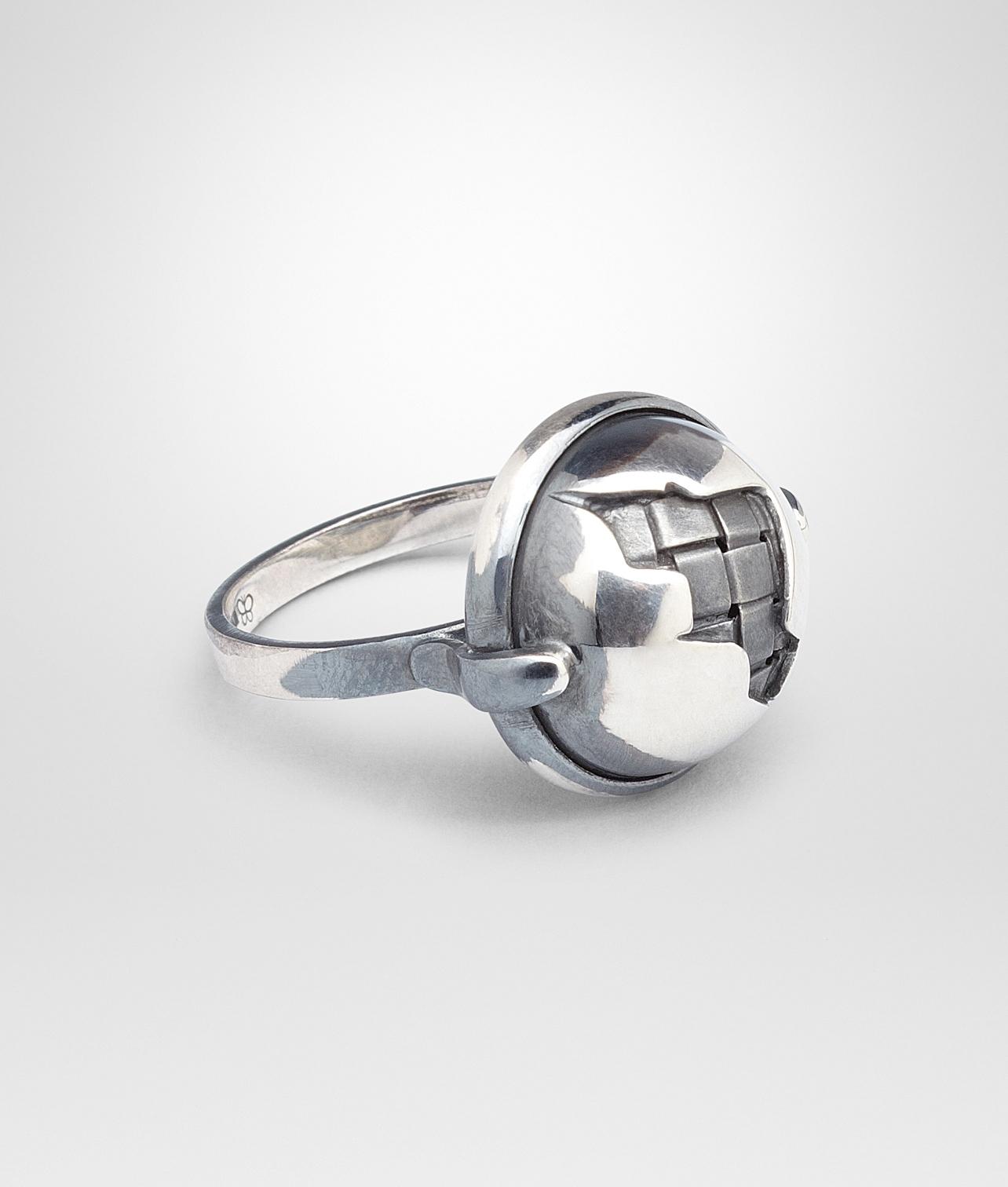 Bottega Veneta antique Intrecciato ring - Metallic BWEBIsMM