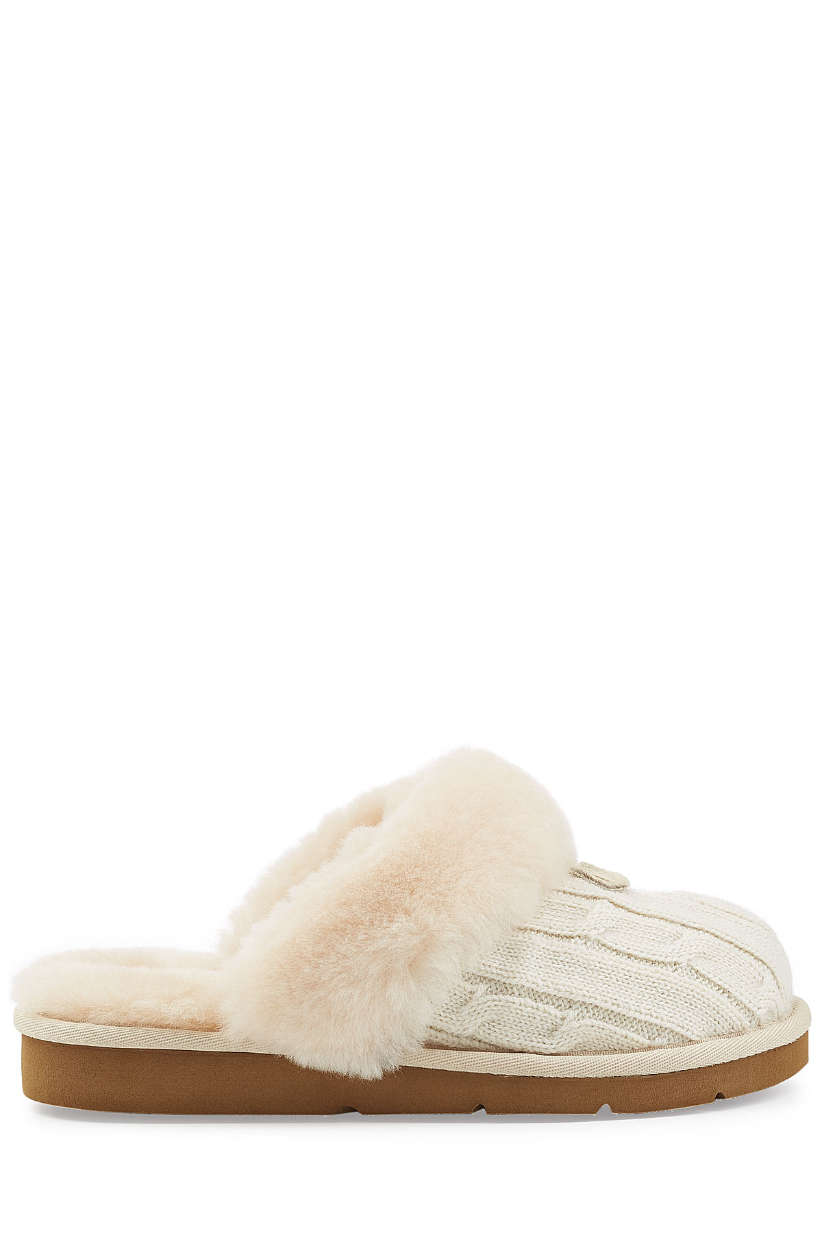 Ugg Cozy Knit Slippers With Wool And Sheepskin White In Natural Lyst