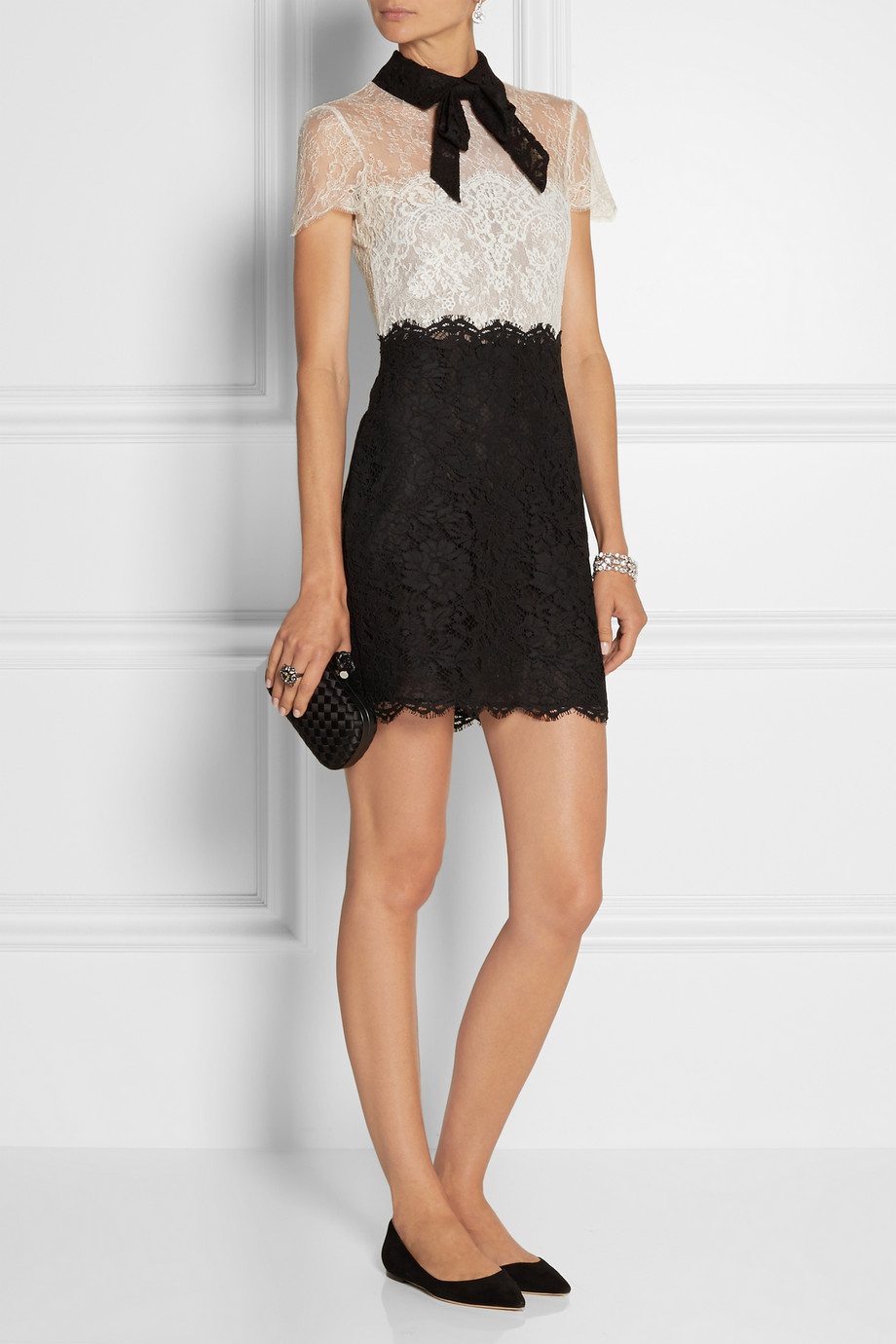 Valentino lace dress with bow