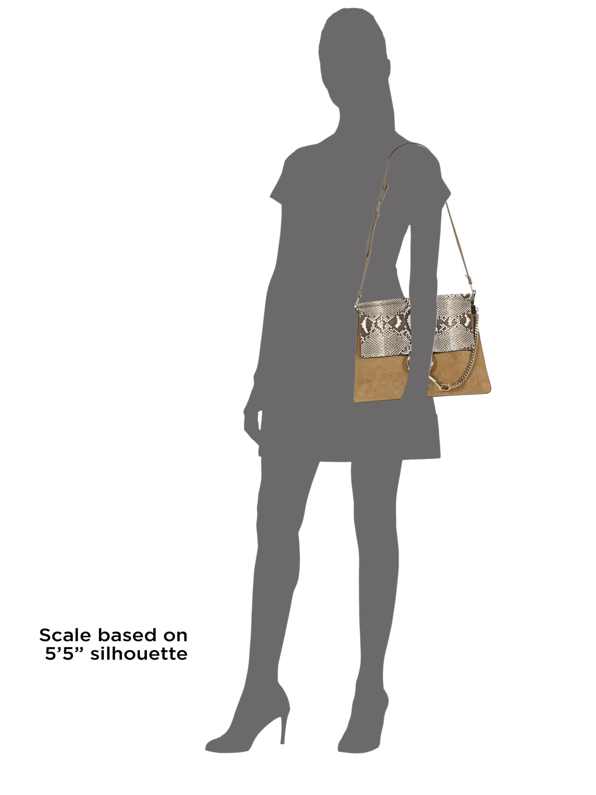 chloe brand handbags - Chlo�� Faye Medium Python & Suede Shoulder Bag in Animal (desert ...