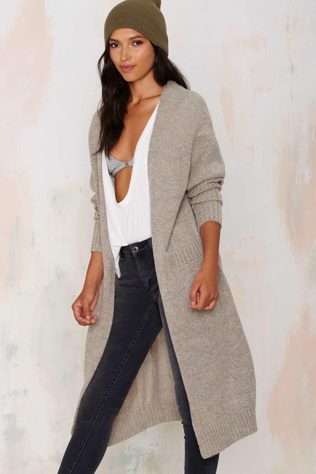 fcf3337afa9f4a Nasty Gal So Heated Duster Cardigan in Natural - Lyst