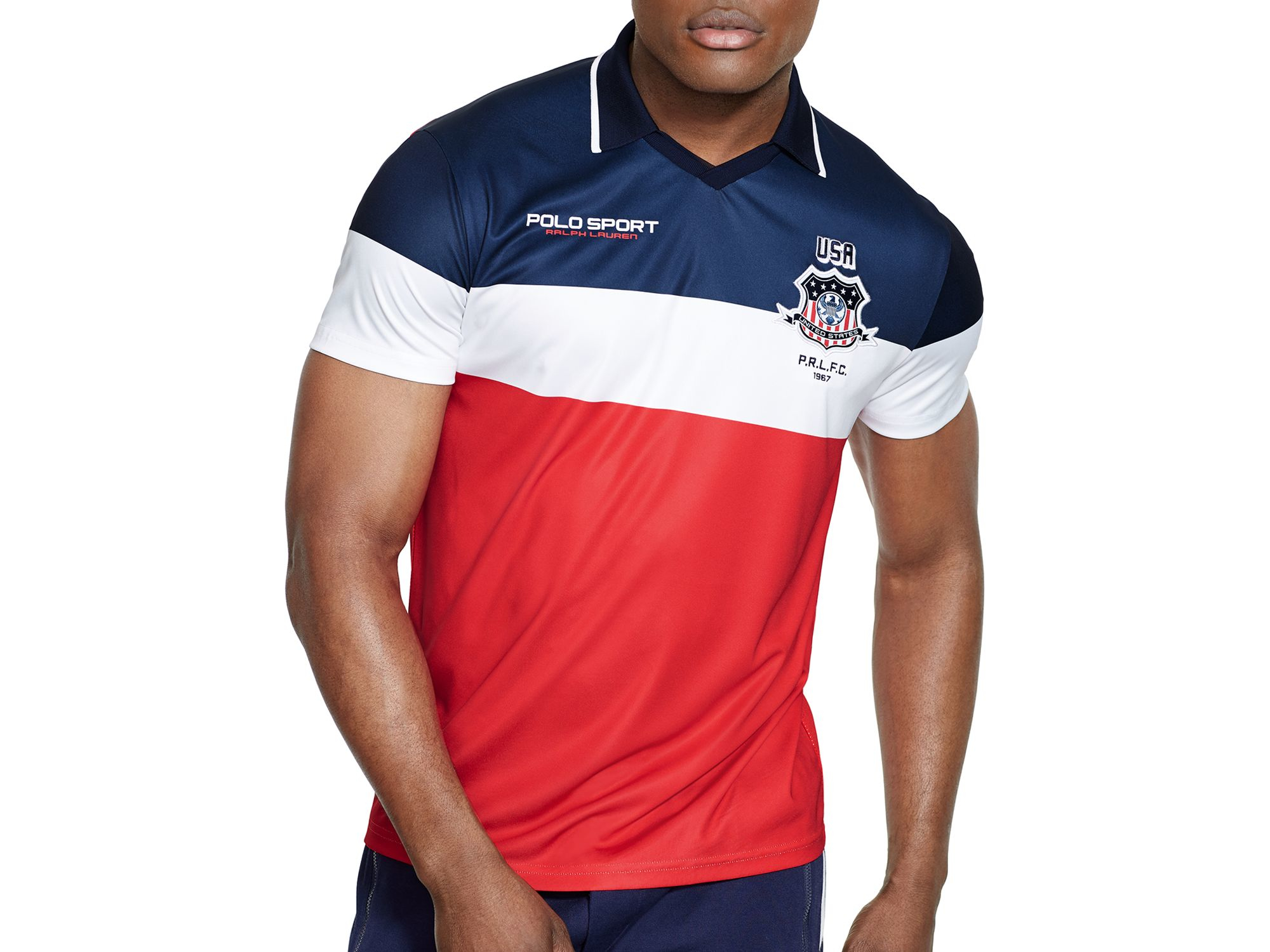 Lyst Polo Ralph Lauren Polo Sport Usa Color Blocked Jersey Polo