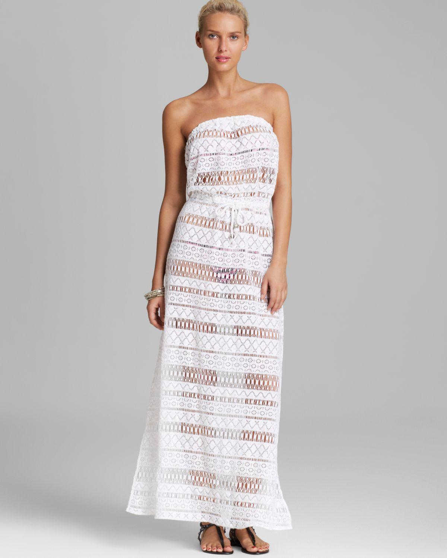 fe21c67f191 Lyst - MILLY Crochet Pahala Maxi Dress Swim Cover Up in White