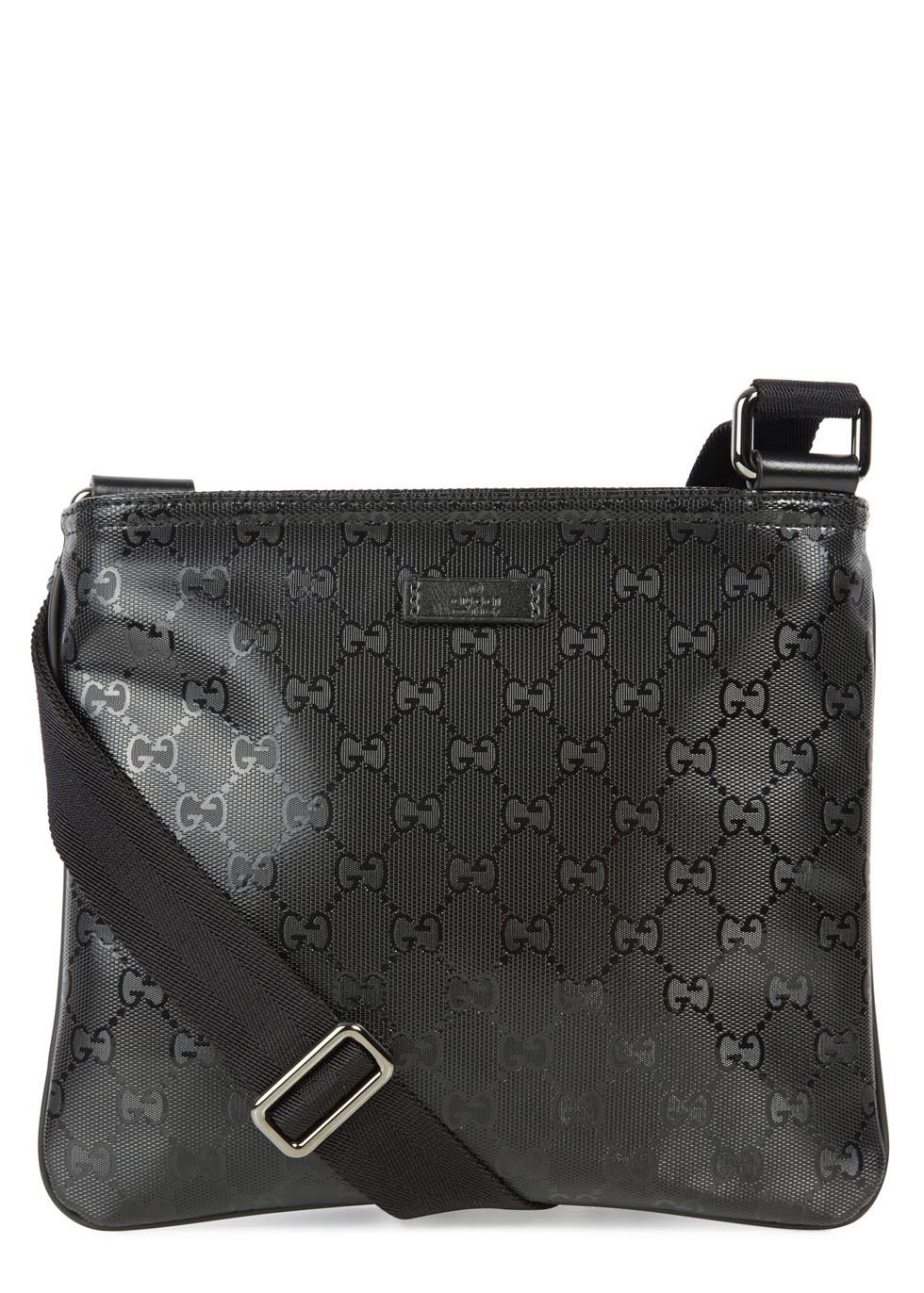e58b2e6666397e Gucci Black Monogrammed Coated Canvas Messenger Bag in Black for Men ...