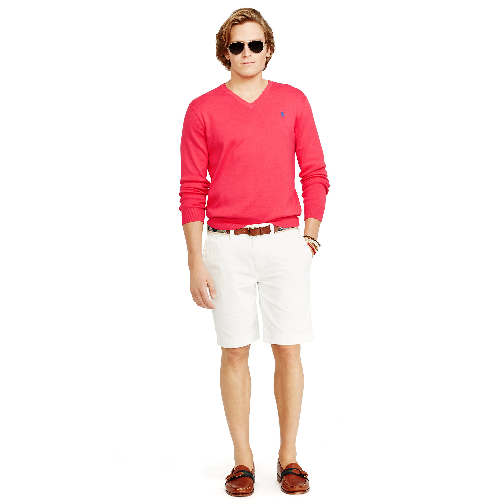 Polo Ralph Lauren | Purple Pima Cotton V-Neck Sweater | Lyst. View Fullscreen