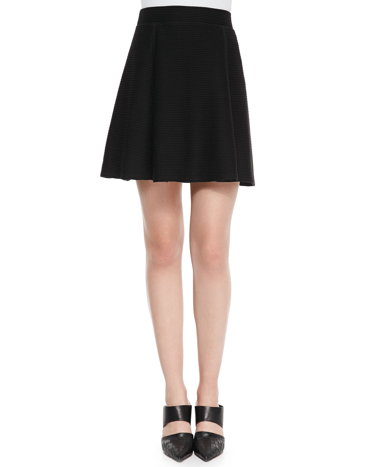 vince ottoman knit a line skirt in black lyst