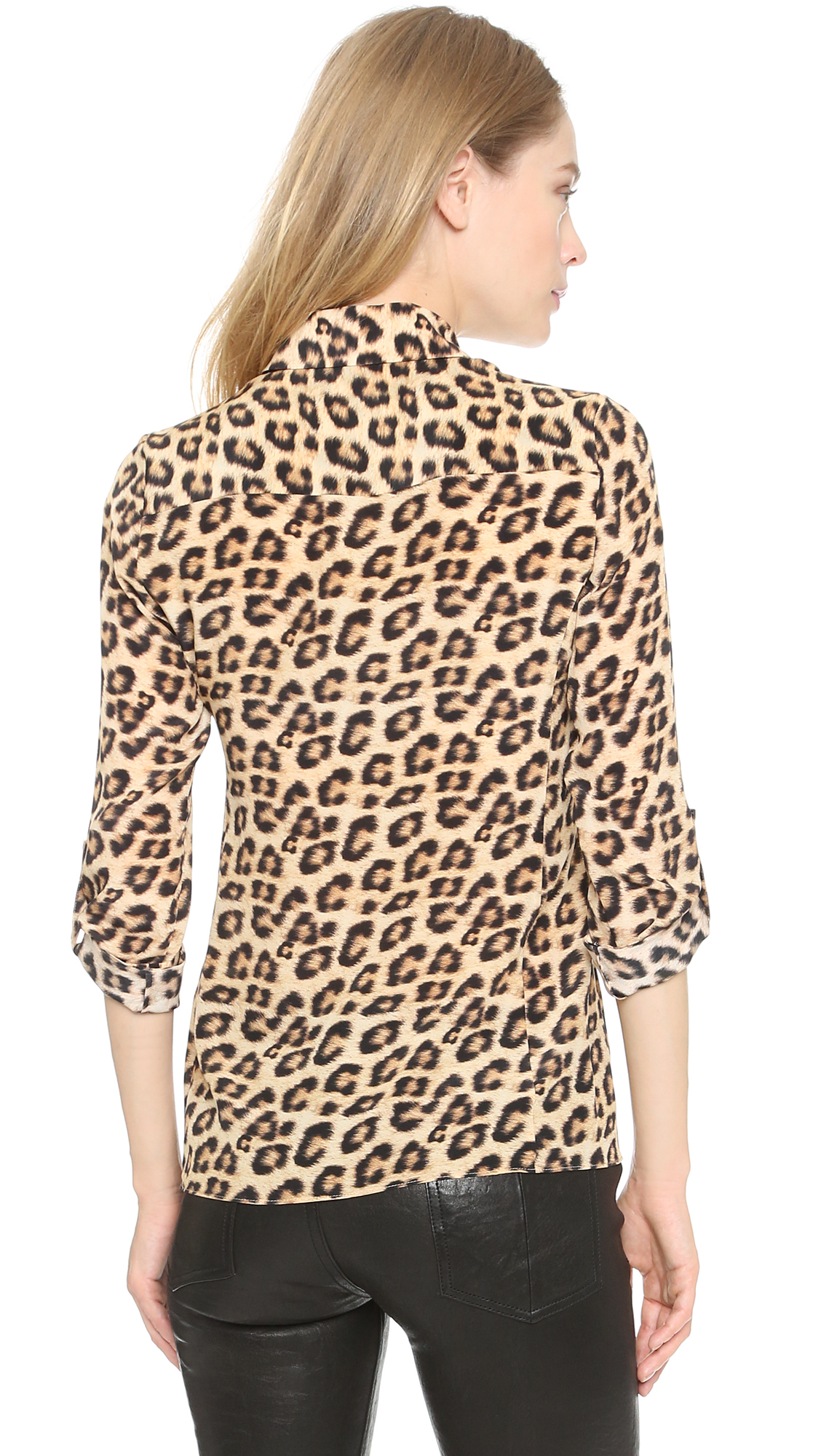 Alice And Olivia Leopard Blouse 44