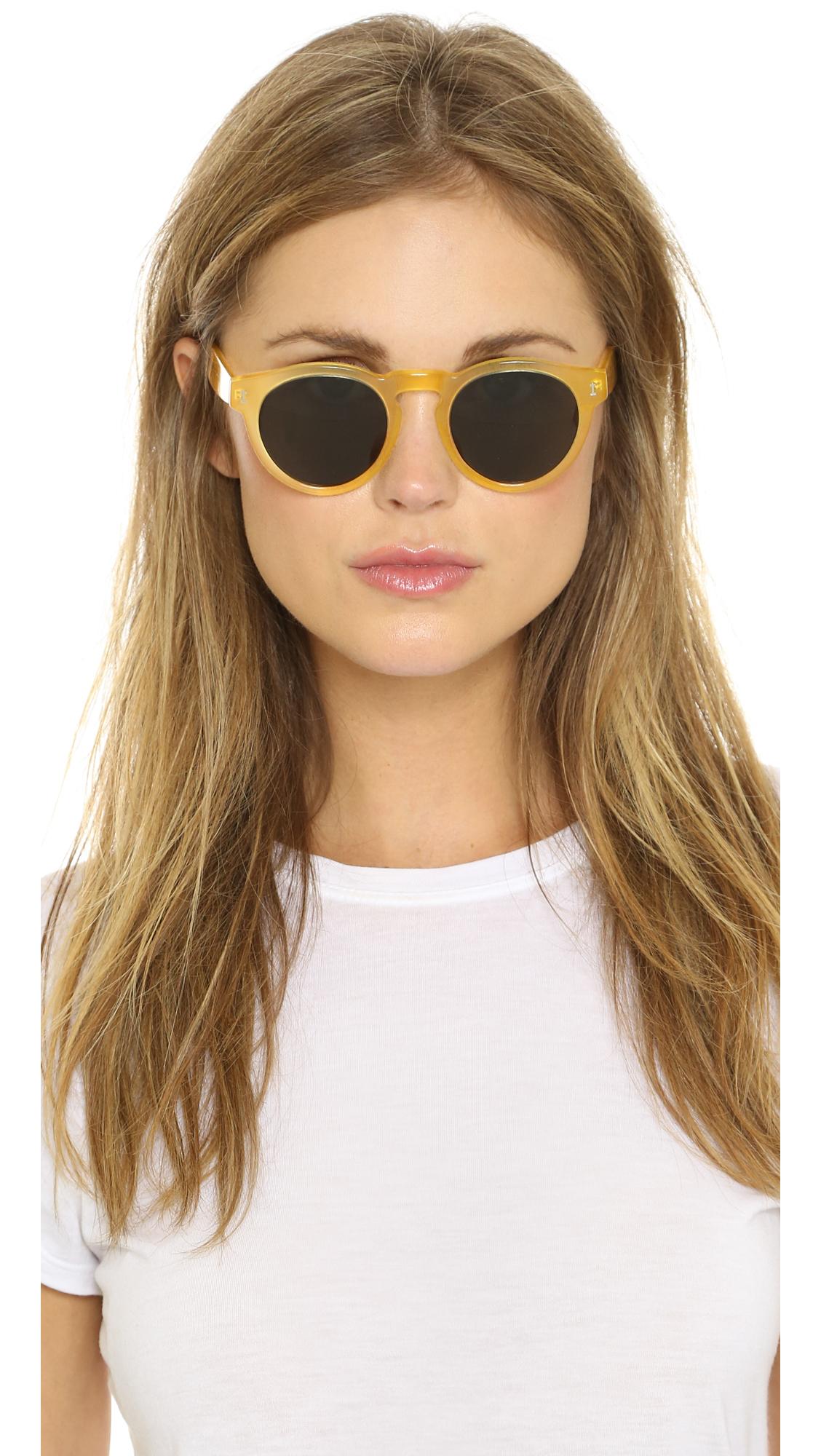 fa89e52d624 Illesteva Leonard Sunglasses - Blonde black in Yellow - Lyst
