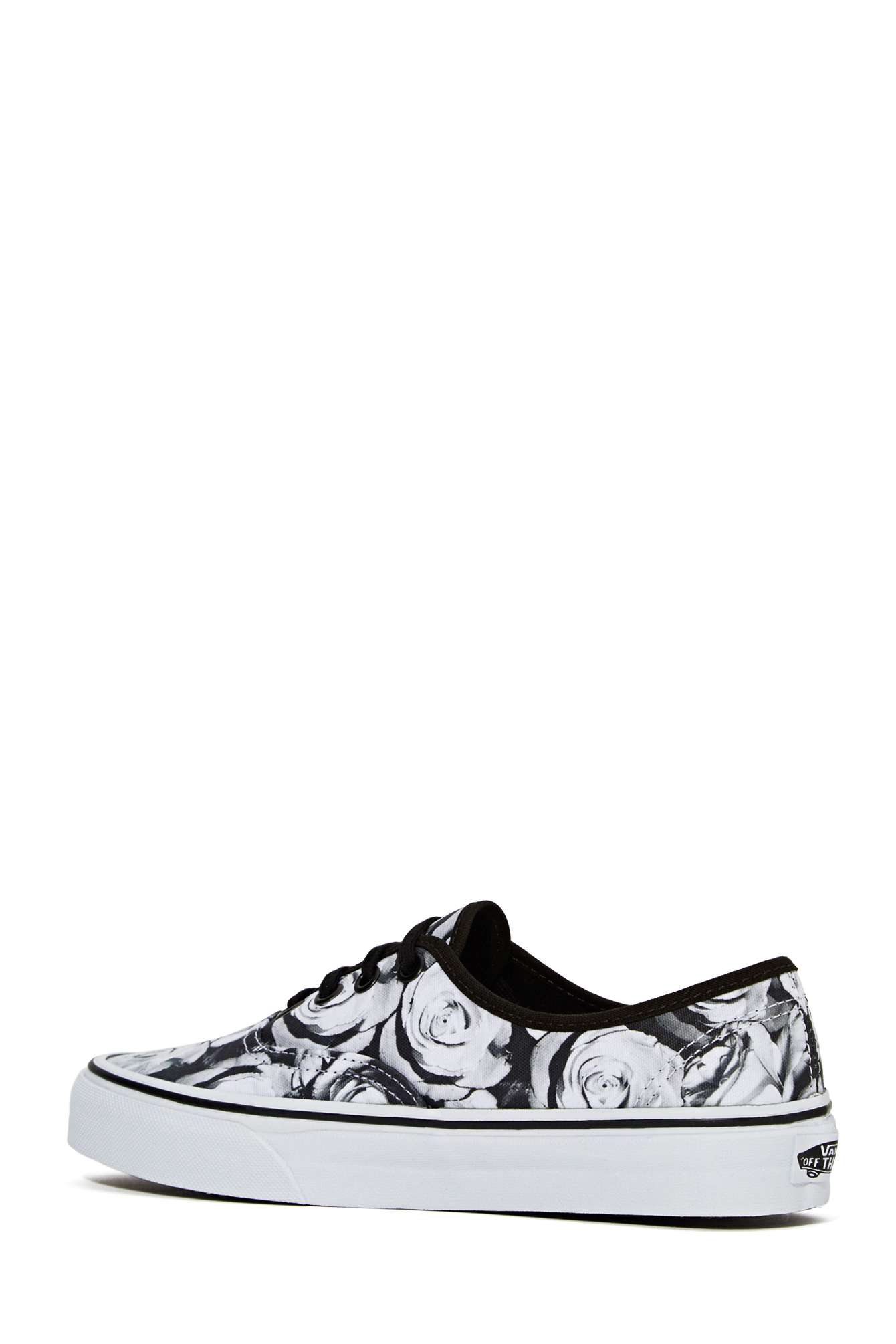 21025ed272 Lyst - Nasty Gal Vans Authentic Sneaker Digi Rose in Black