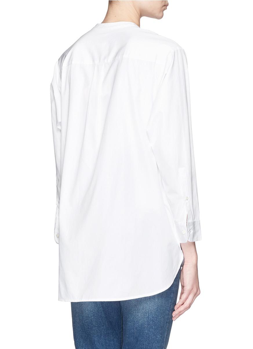 Lyst Thomas Mason For Collarless Tuxedo Shirt In