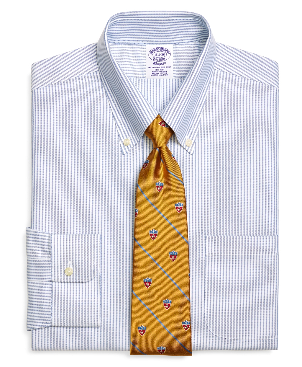 Brooks brothers non iron traditional fit brookscool for Best extra slim fit dress shirts