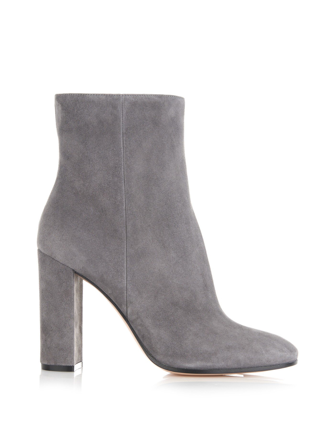 gianvito rossi rolling suede ankle boots in gray lyst. Black Bedroom Furniture Sets. Home Design Ideas