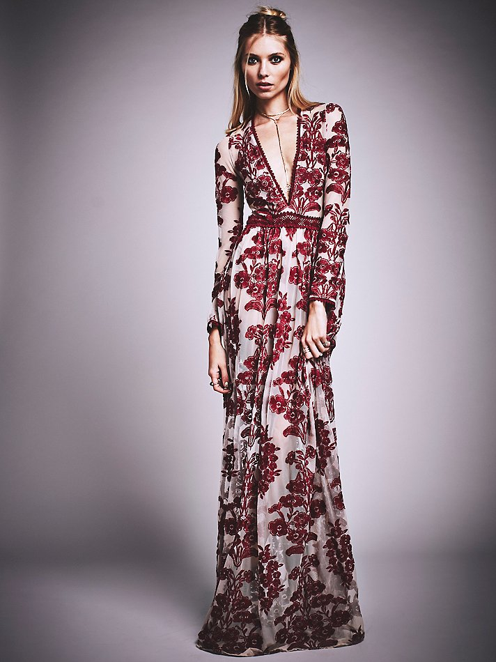 Free people Temecula Maxi Dress in Purple | Lyst