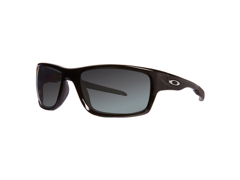 oakley men black iridium polarized rectangle sunglasses in