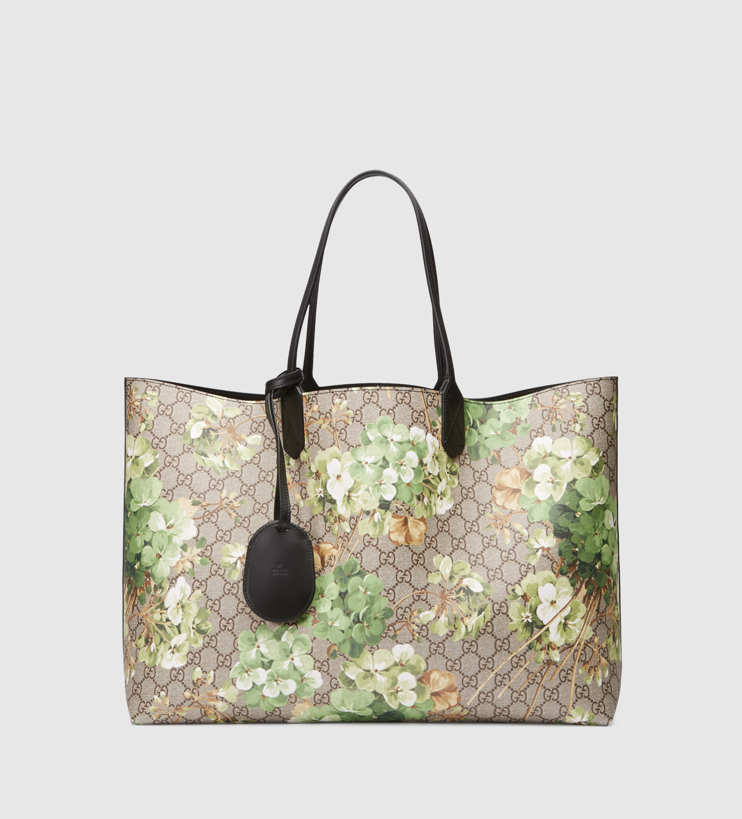 36d22b37ef32 Gucci Reversible Gg Blooms Leather Tote in Green for Men - Lyst