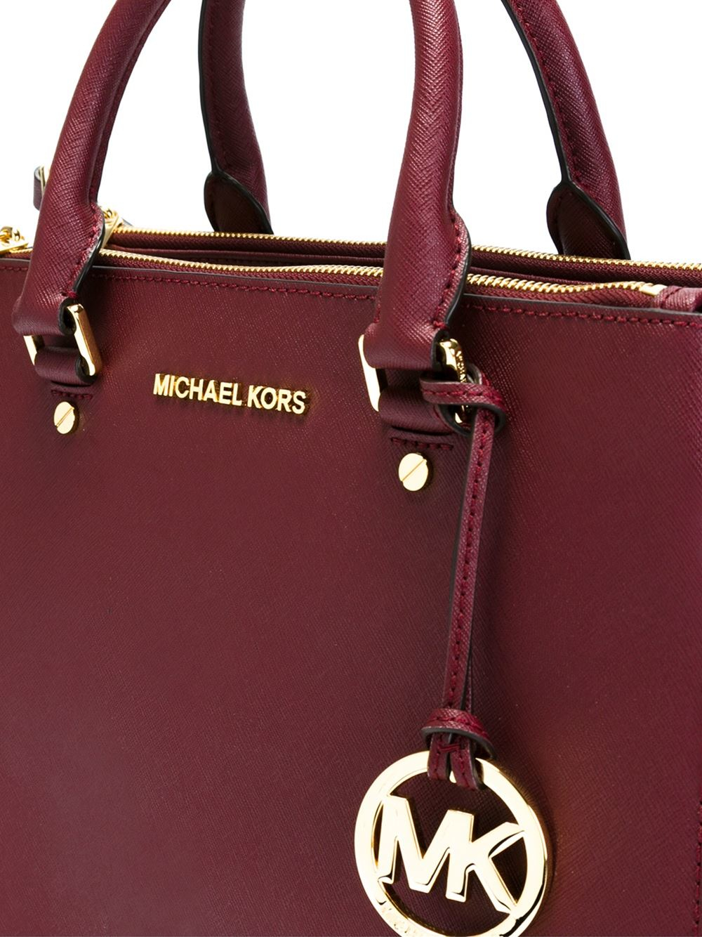 Lyst Michael Michael Kors Sutton Tote Bag In Red