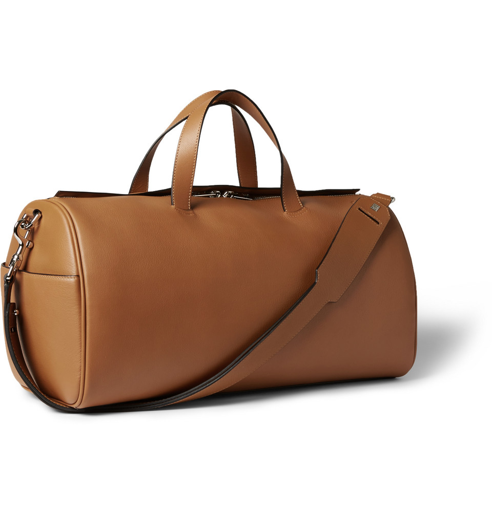 lyst loewe leather duffle bag in brown for men
