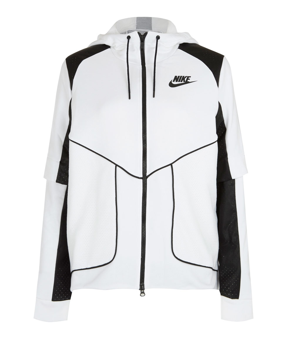 2536926e843e Lyst - Nike White Perforated Full-zip Hoodie Jacket in White