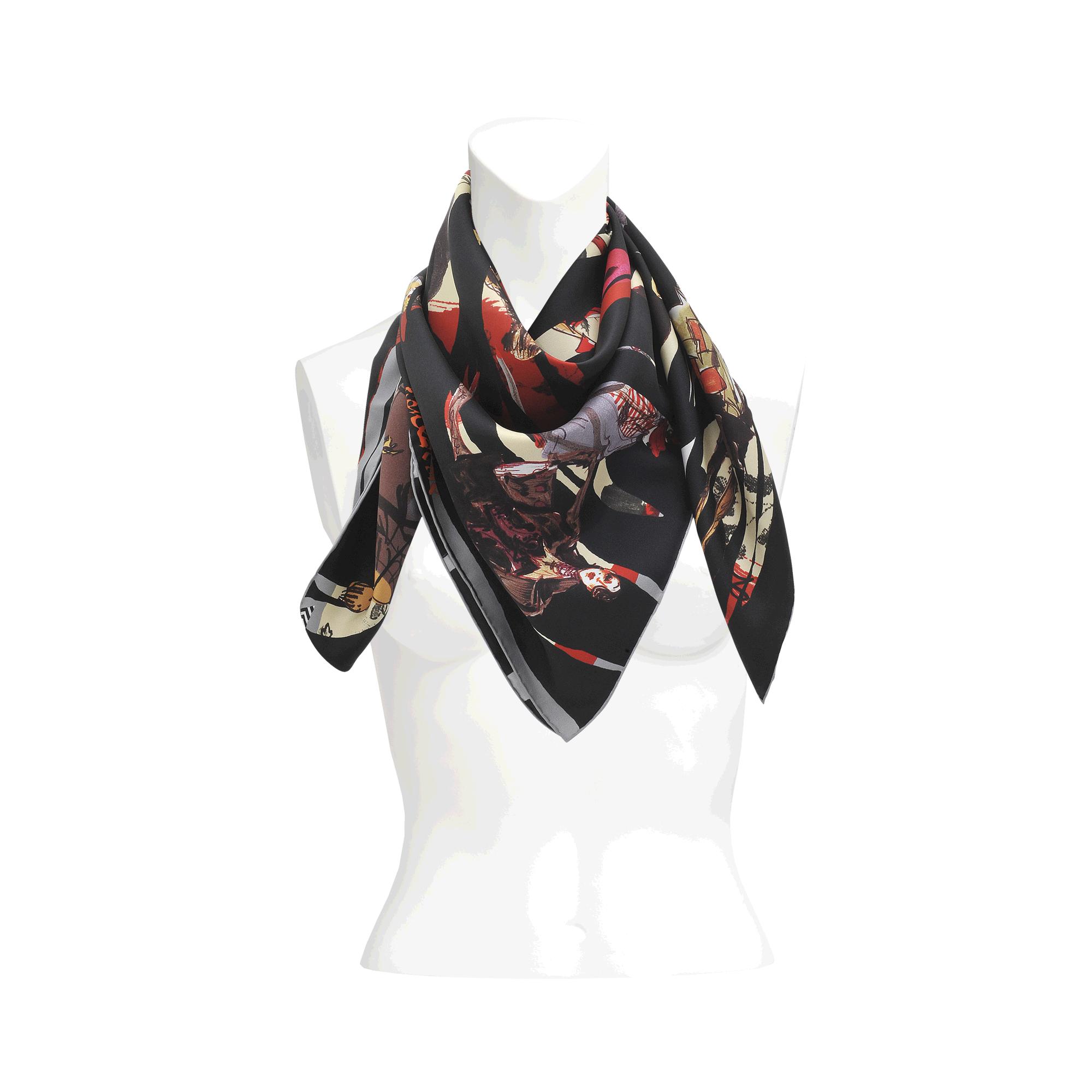 christian lacroix hide and seek silk scarf 90x90 lyst