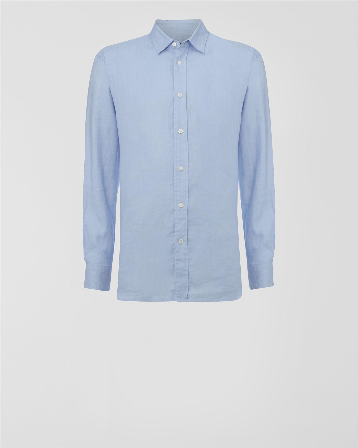 Jaeger linen shirt in blue for men lyst for Mens light blue linen shirt