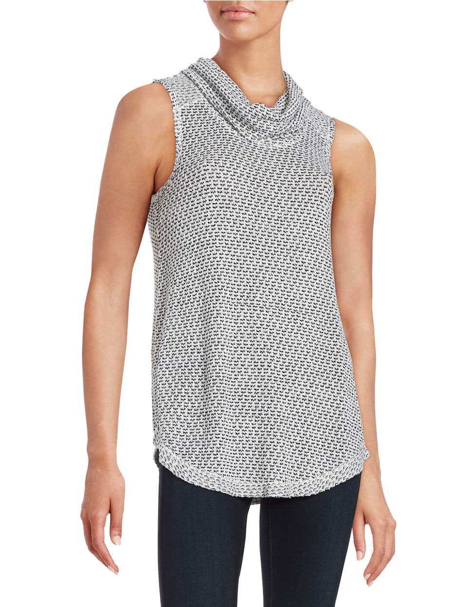 Lord Taylor Cowlneck Tank Top In Black Lyst