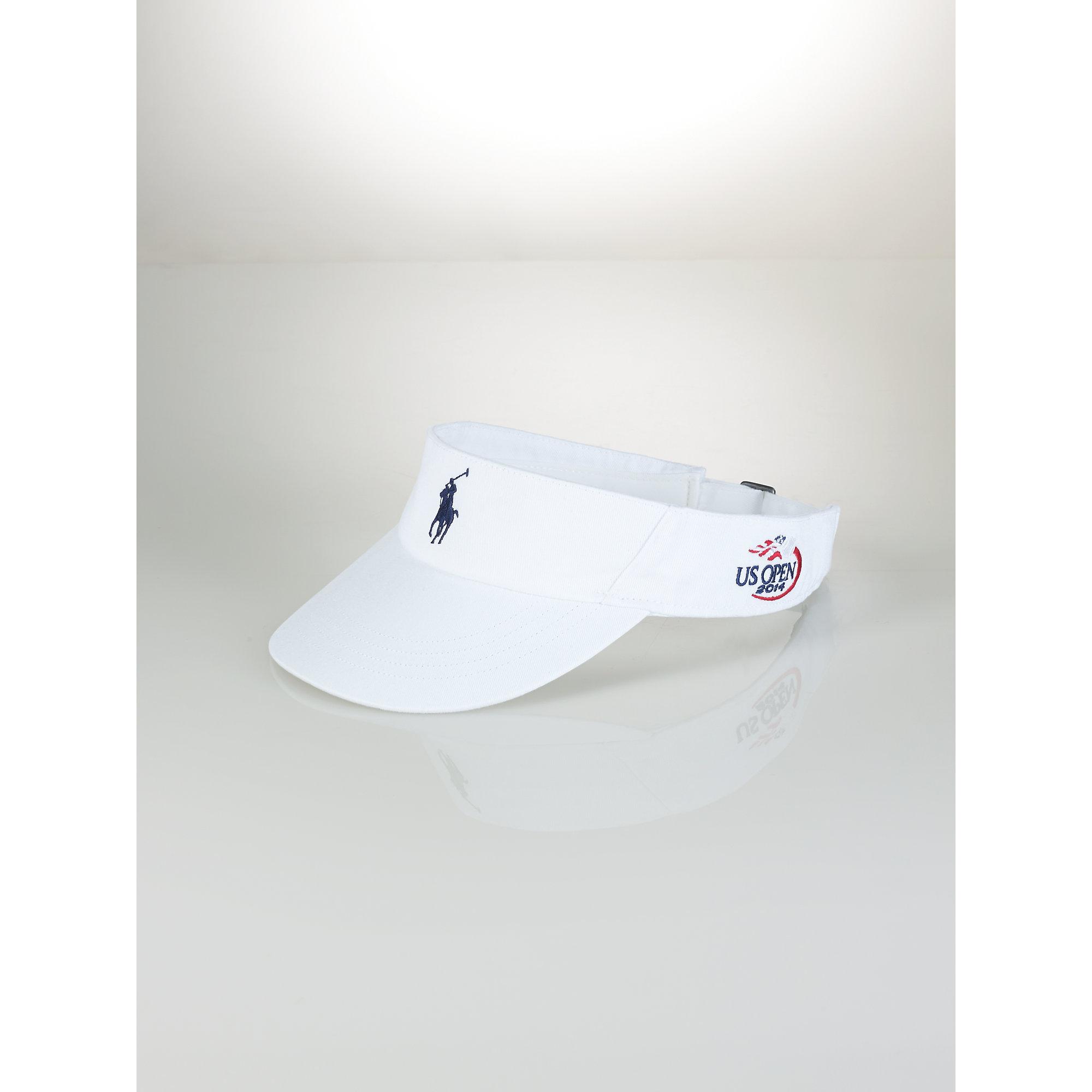 7809128179e Lyst - Polo Ralph Lauren Us Open Pony Visor in White for Men