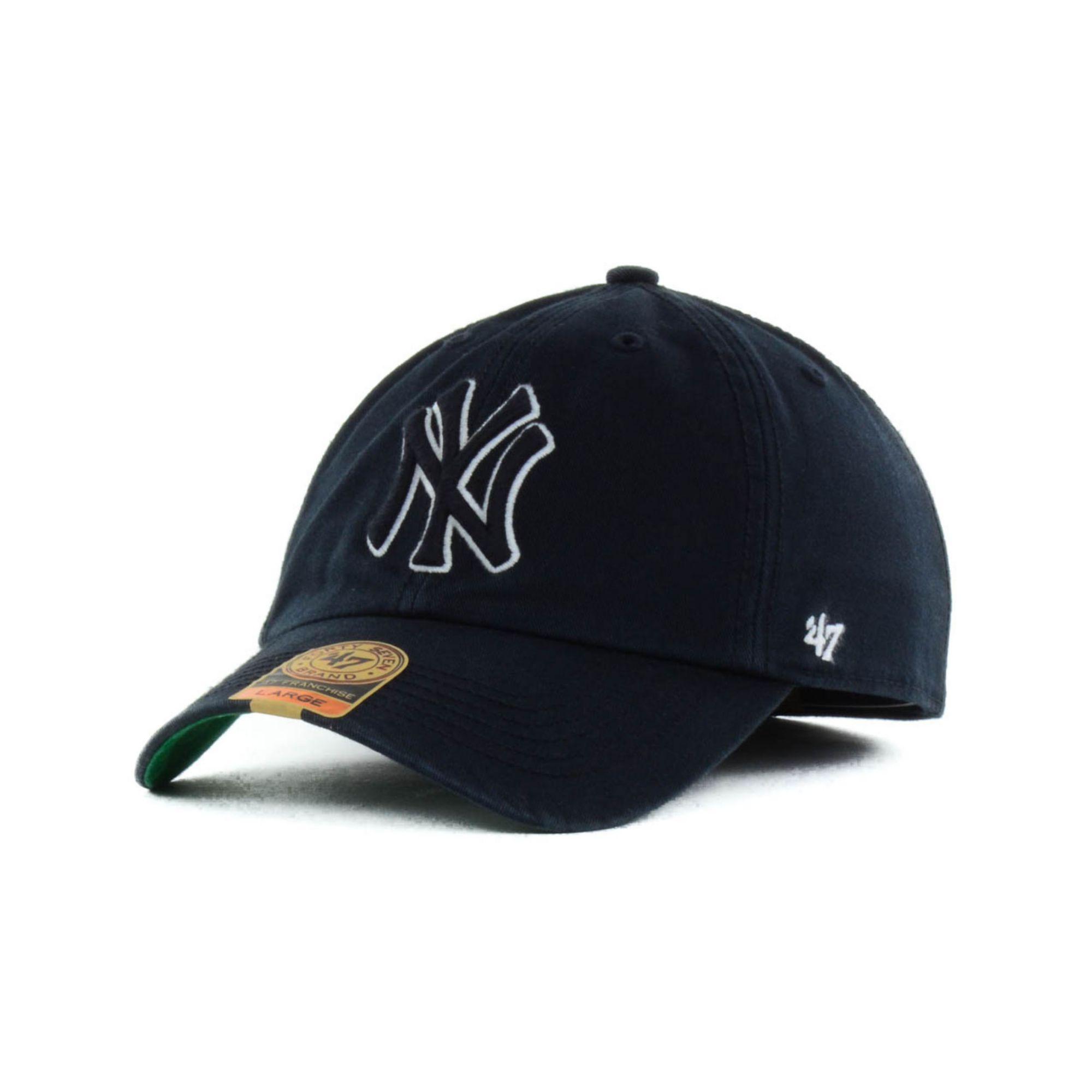 47 brand new york yankees black out franchise cap in black. Black Bedroom Furniture Sets. Home Design Ideas
