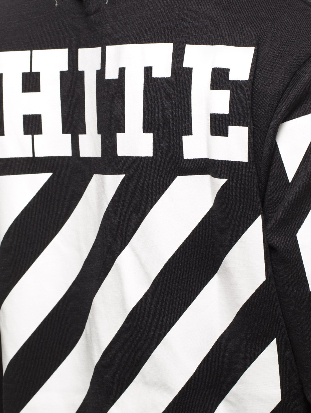 Black t shirt with white stripes - Gallery