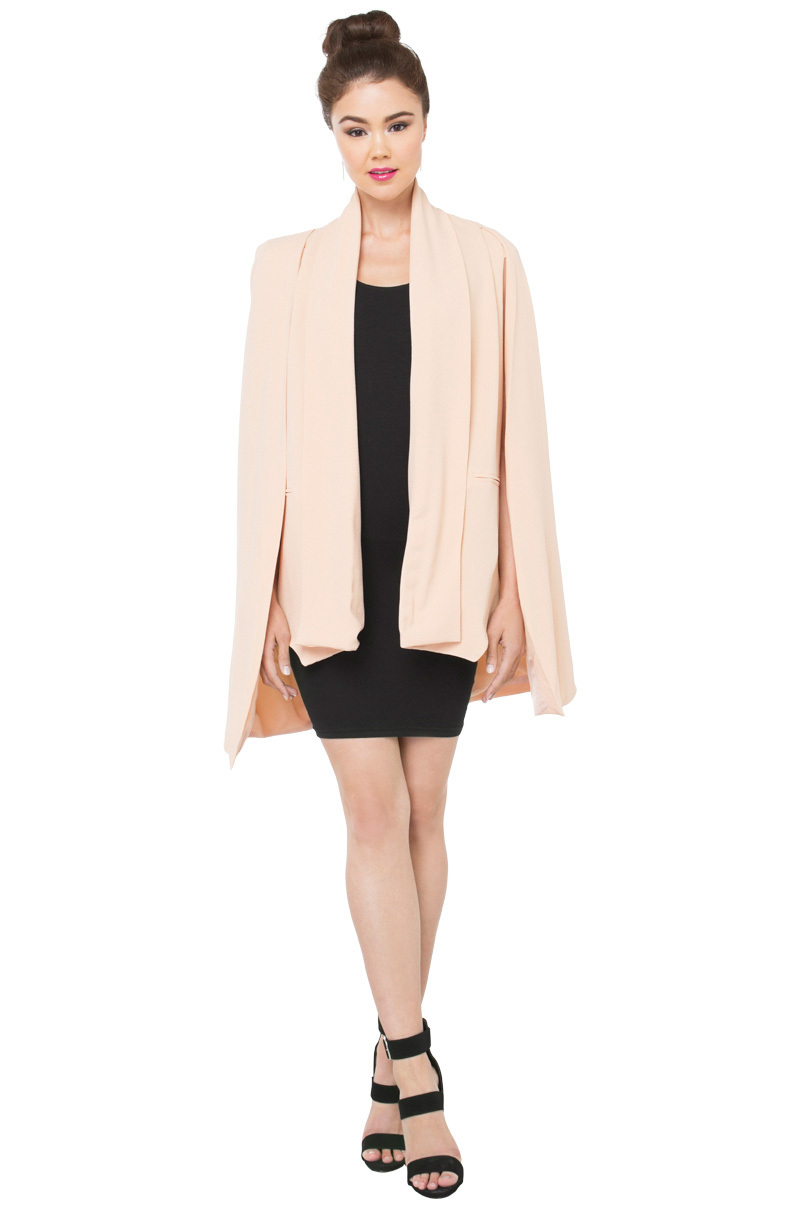 48b22c33785d AKIRA Cover Me Cape Blazer - Blush in Pink - Lyst