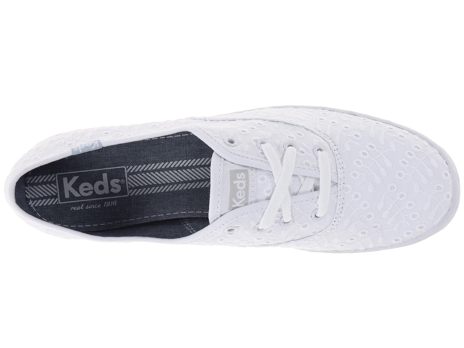 keds champion eyelet white