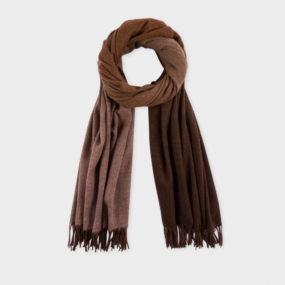 paul smith s damson wool d 233 grad 233 scarf in