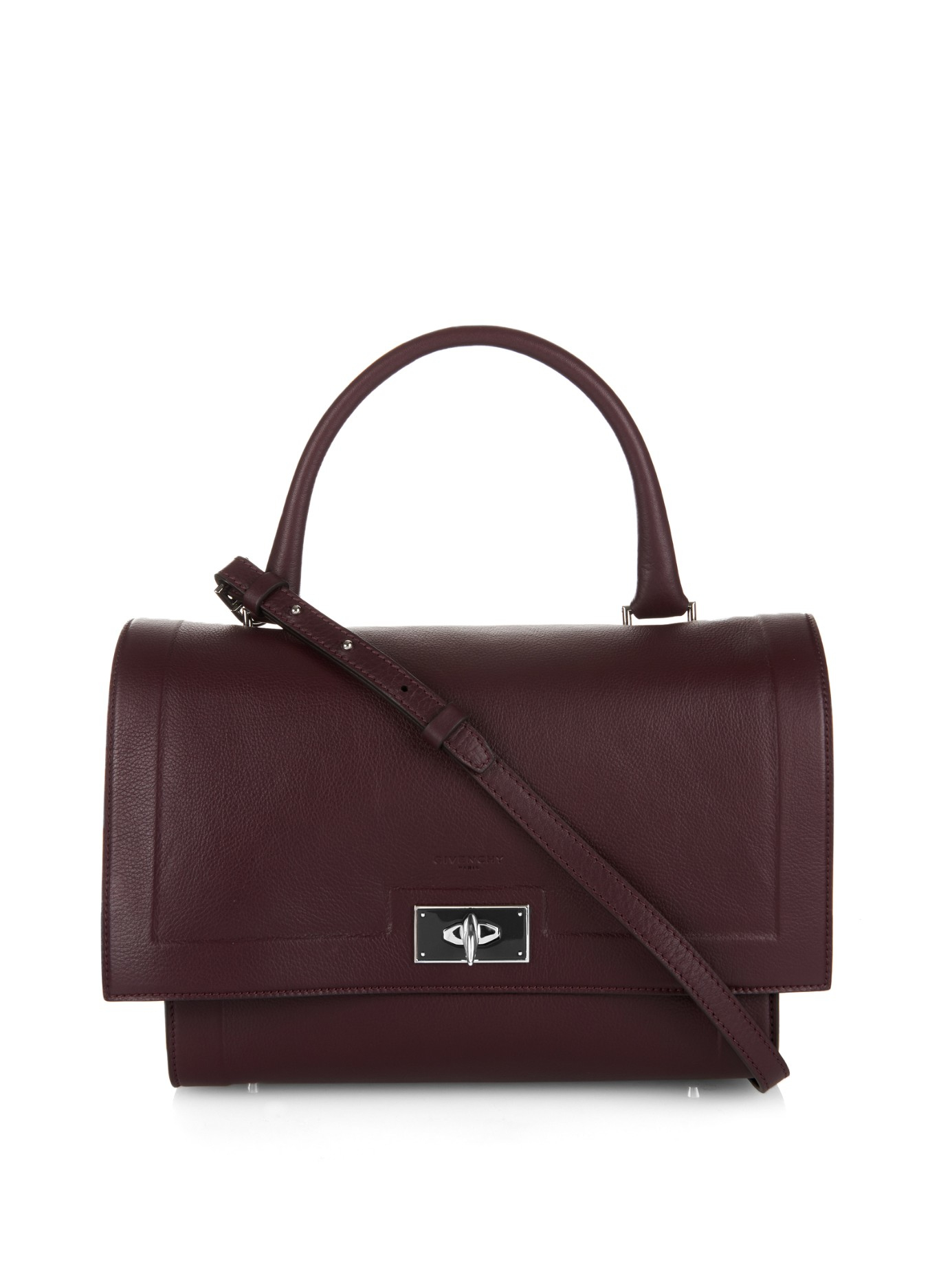 32a8368969a6 Lyst - Givenchy Shark Small Leather Tote in Purple