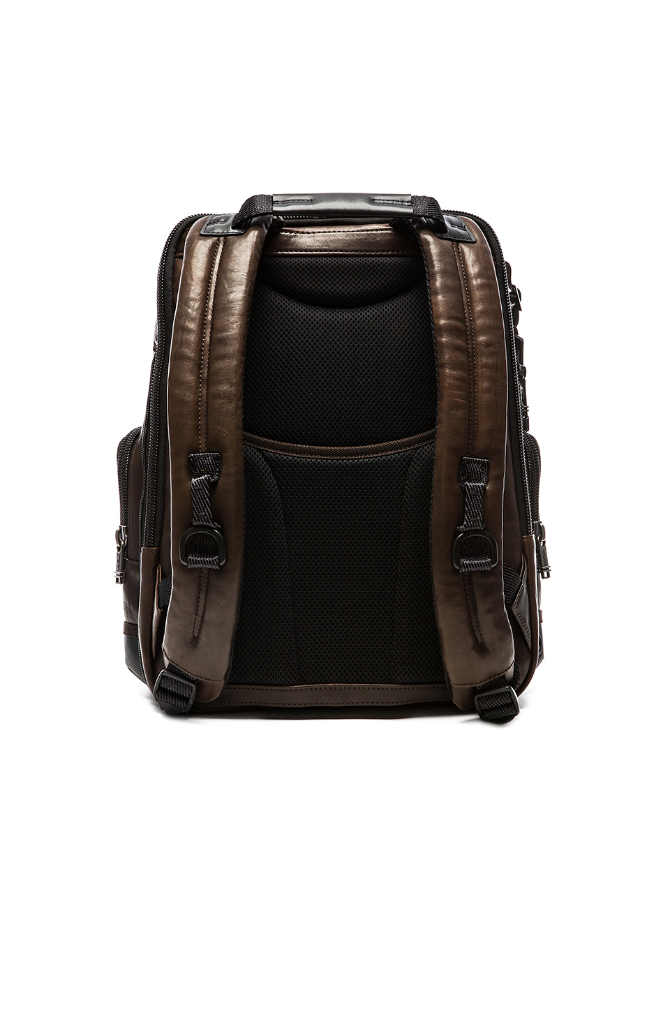 Tumi Alpha Bravo Leather Knox Backpack In Brown For Men Lyst