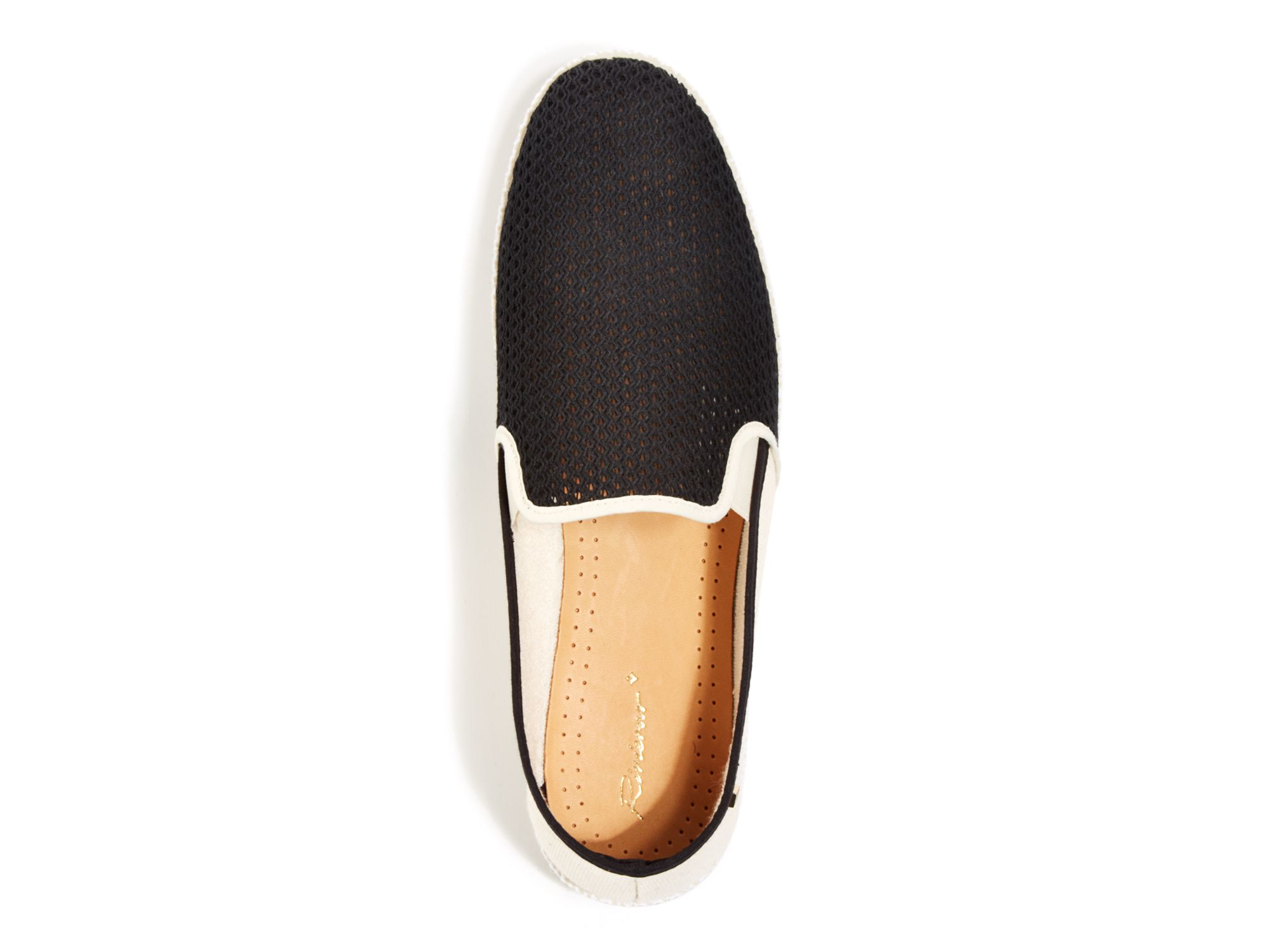 rivieras nervour wreck color block leisure shoes in black