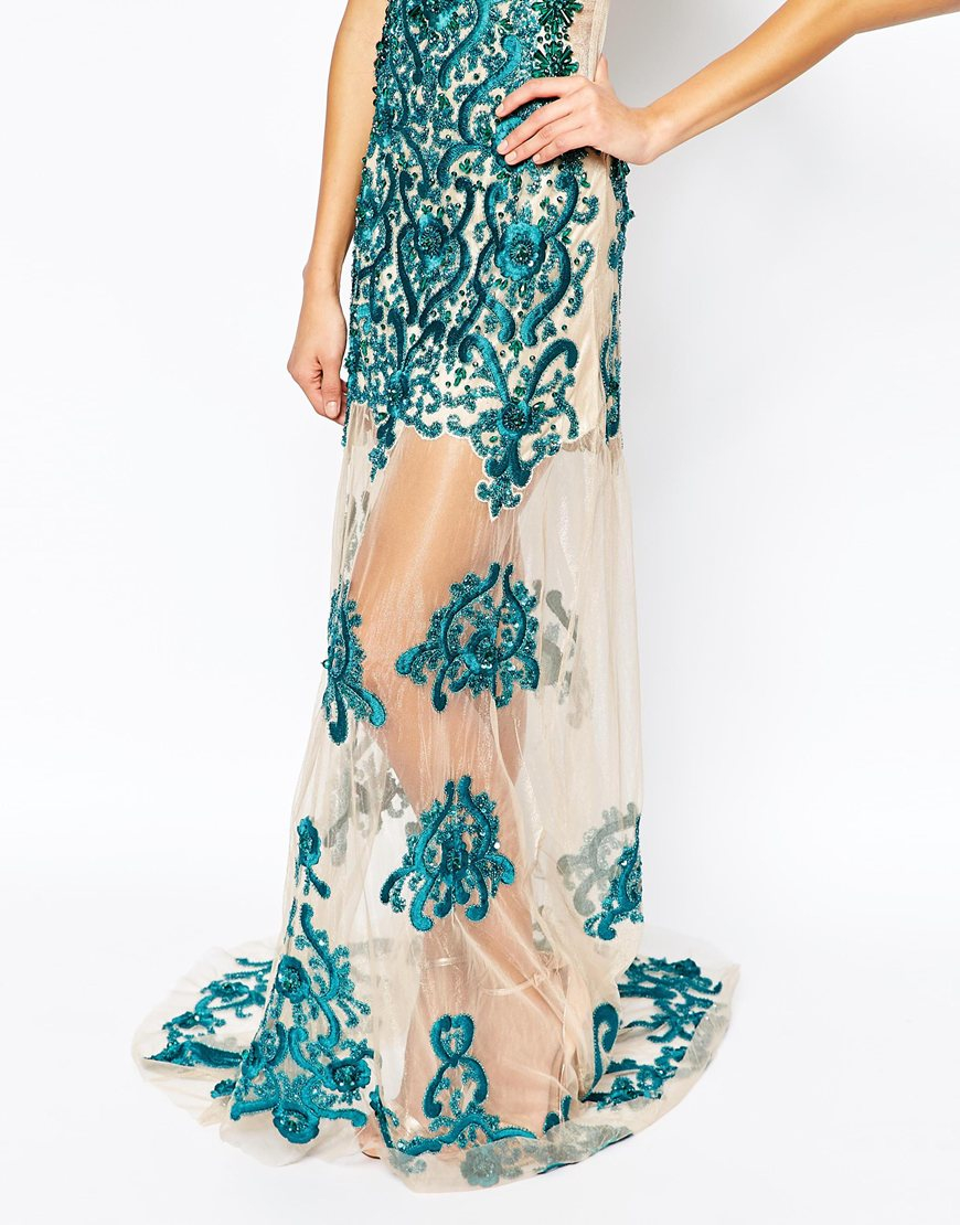 Star is born embellished crepe maxi dress in metallic lyst - Gallery Women S Sequin Dresses
