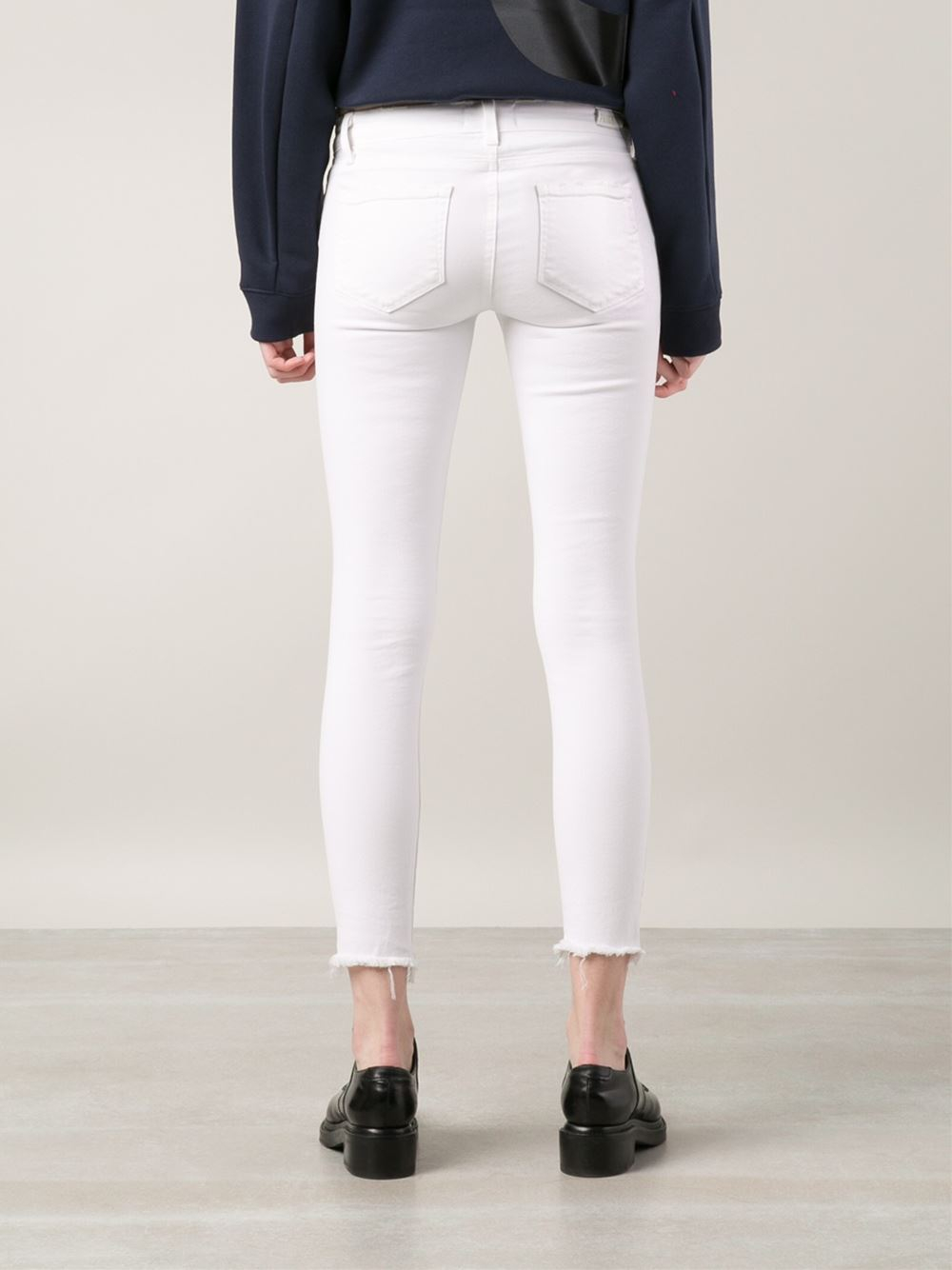 Paige White Skinny Jeans - Jeans Am