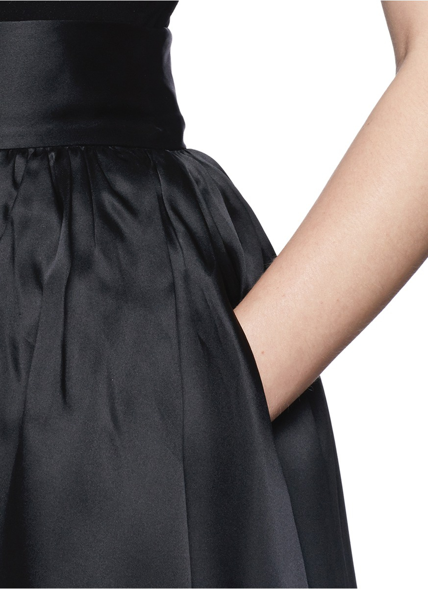 Lyst - St. John Organza Ball Gown Skirt in Black