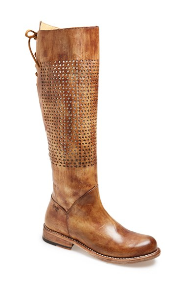 bed stu cambridge knee high leather boot in brown