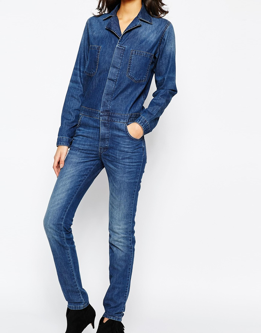 b2580f94be Lyst - Ba sh Madison Denim Jumpsuit - Blue Jeans in Blue