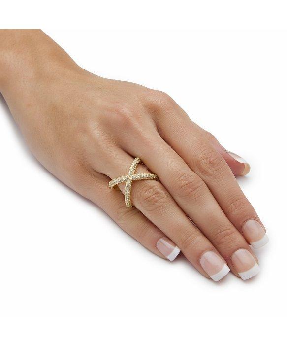 Lyst Palmbeach jewelry 78 Tcw Micro pave Cubic Zirconia
