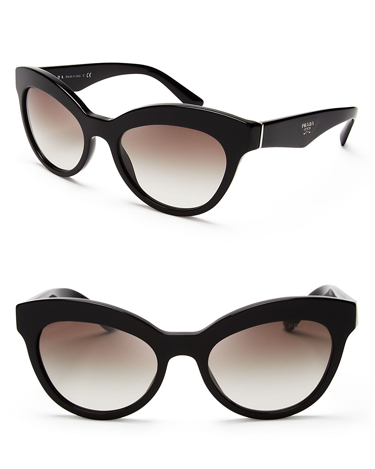 0b7eca89f0d8 spain lyst prada heritage cat eye sunglasses in black beee1 c62ac