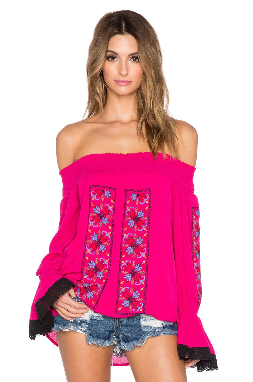 Vava by joy han Magnolia f The Shoulder Top in Pink