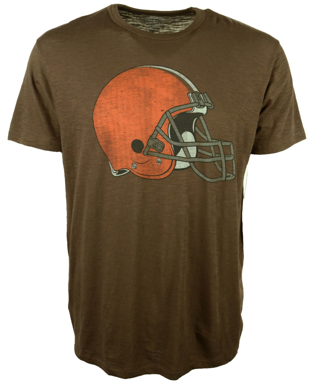47 brand men 39 s cleveland browns logo scrum t shirt in for Cleveland t shirt printing
